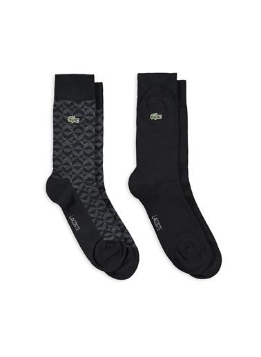 Lacoste 2'li Çorap Siyah